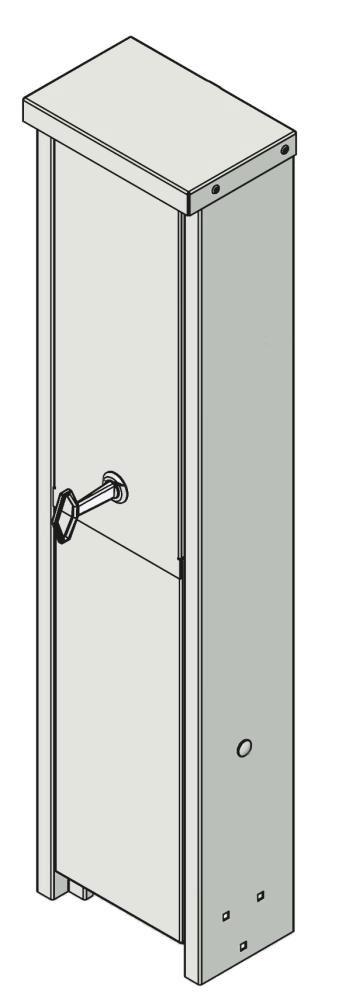 Intagsskap-110mm-aluminium-utan-matare
