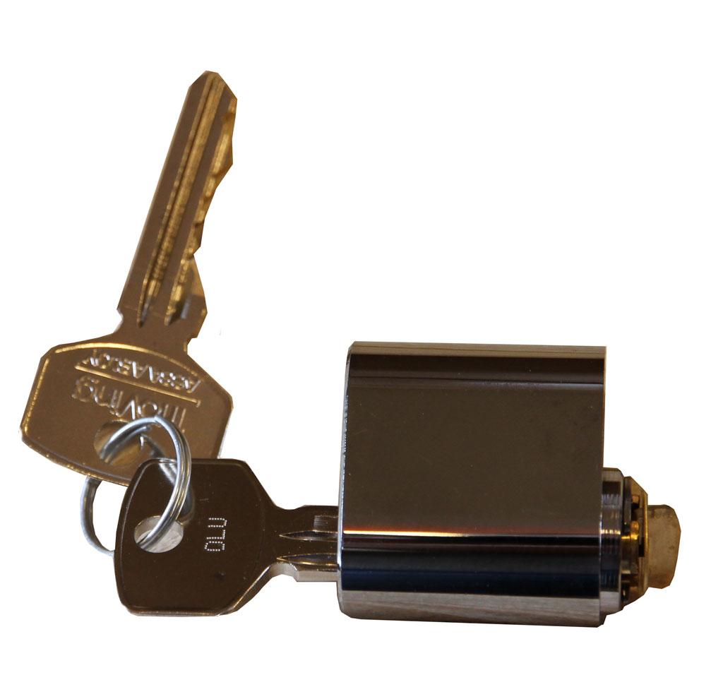 Låscylinder-BLU-med-2-nycklar